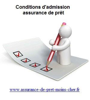 Conditions d'admision assurance emprunteur