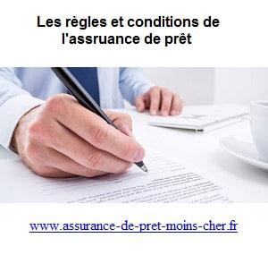 Qu'elles sont les règles de l'assurance de pret ?